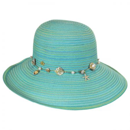 Cappelli Straworld Shell and Bead Straw Facesaver Hat
