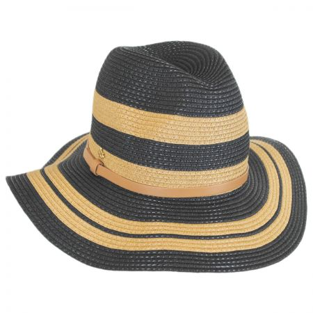 Cappelli Straworld Gold Stripes Toyo Straw Fedora Hat