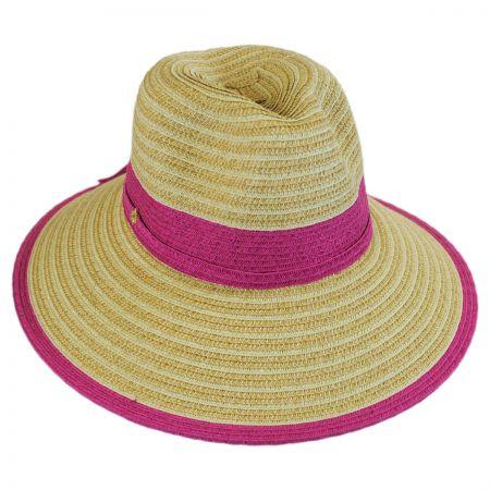 Two-Tone Toyo Straw Fedora Hat alternate view 1