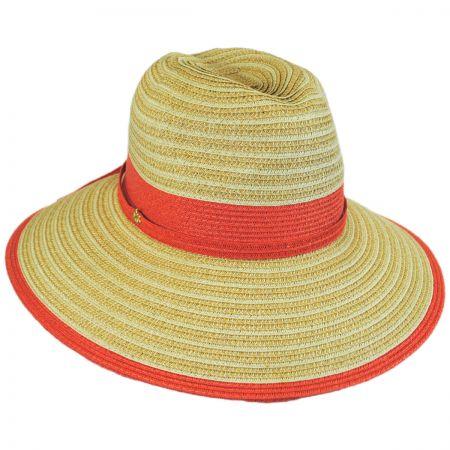 Two-Tone Toyo Straw Fedora Hat alternate view 2