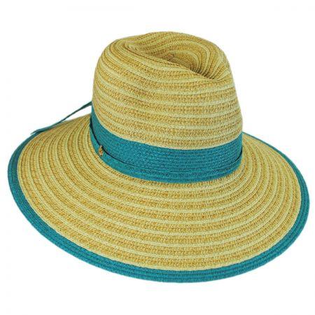 Two-Tone Toyo Straw Fedora Hat alternate view 6