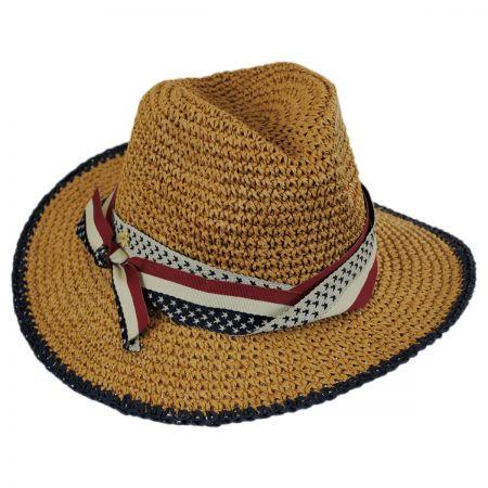 Cappelli Straworld Americana Toyo Straw Fedora Hat