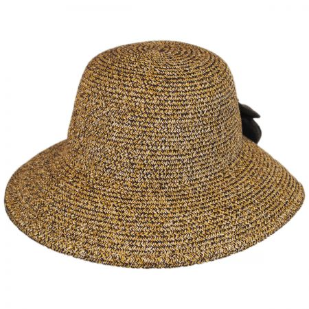 Jeanne Simmons V-Cut Bow Toyo Straw Facesaver Hat