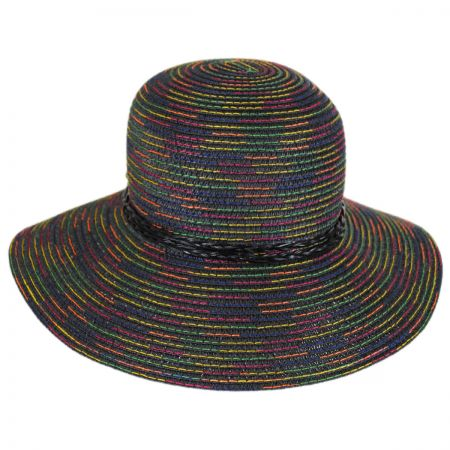 Jeanne Simmons Rainbow Stitched Toyo Straw Sun Hat