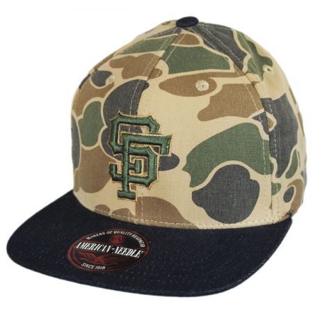 American Needle San Francisco Giants MLB Dillon Strapback Baseball Cap Dad Hat