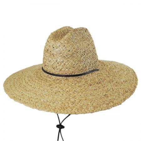 Dorfman Pacific Organic Raffia Straw Lifeguard Hat