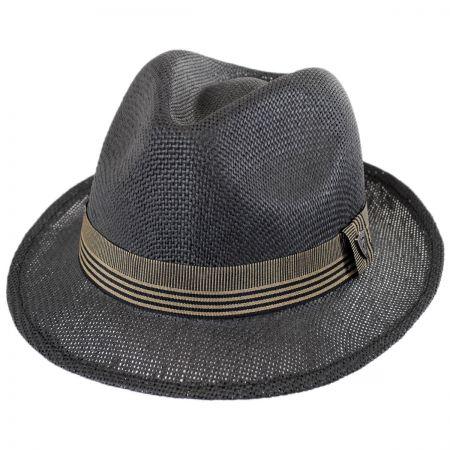Dorfman Pacific Matte Toyo Straw Fedora Hat