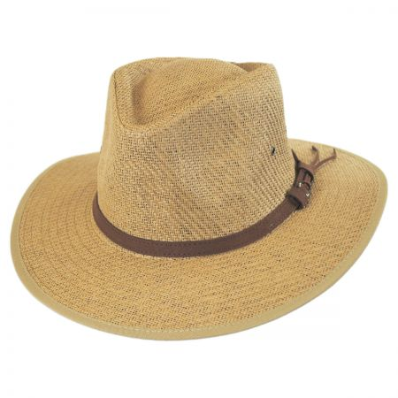 Dorfman Pacific Matte Toyo Straw Outback Fedora Hat