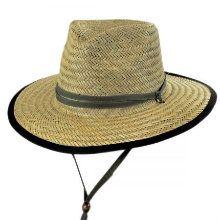 Dorfman Pacific Straw Outback Lifeguard Hat