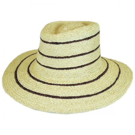 Brixton Hats Amelia Raffia Straw Fedora Hat