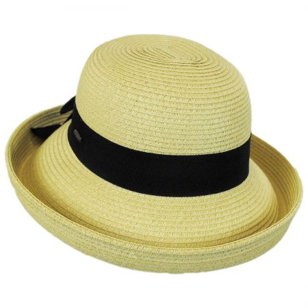 Karen Keith Toyo Straw Kettle Brim Sun Hat