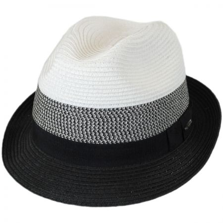 Color Block Toyo Straw Trilby Fedora Hat alternate view 5