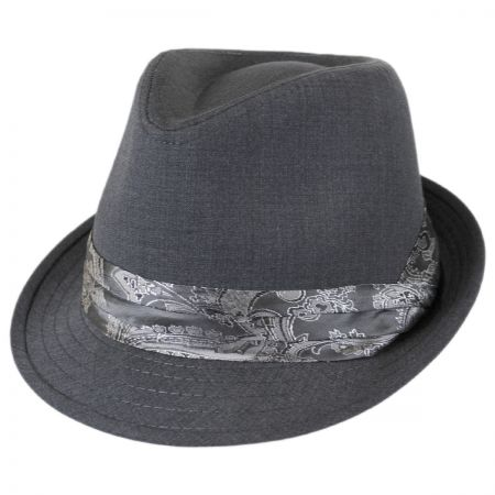 Kenny K Paisley Band Fabric Trilby Fedora Hat