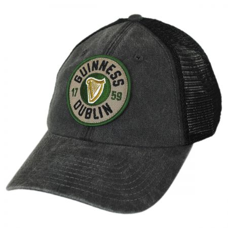 American Needle Guinness Raglan Bones Mesh Trucker Strapback Baseball Cap