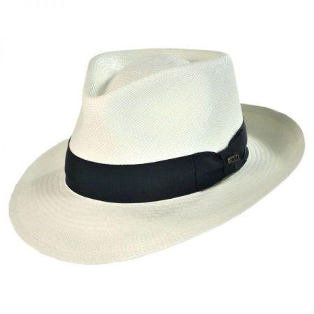 Scala Panama Straw C-Crown Fedora Hat