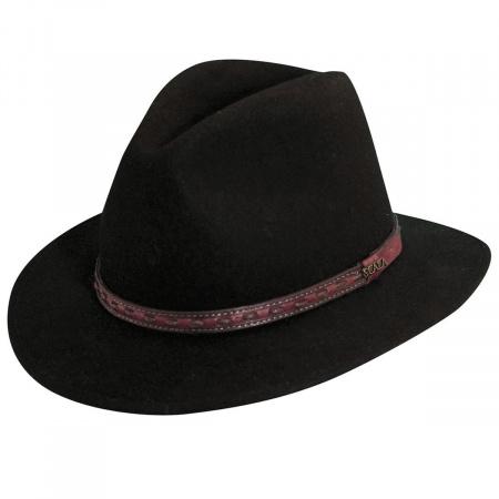 Traveler Wool Felt Safari Fedora Hat alternate view 1