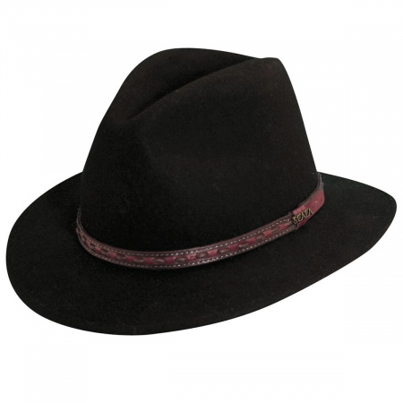 Scala Traveler Wool Felt Safari Fedora Hat