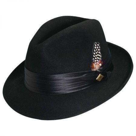 Crushable Wool Felt Fedora Hat alternate view 3