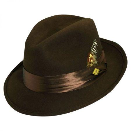 Crushable Wool Felt Fedora Hat alternate view 6