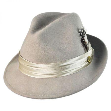 Stacy Adams Crushable Wool Felt Fedora Hat