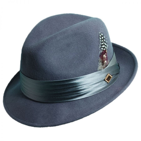 Crushable Wool Felt Fedora Hat alternate view 12