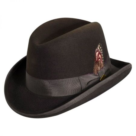 STACY ADAMS Dorfman Pacific Genuine Crushable WOOL FELT GAMBLER HAT S M L XL New