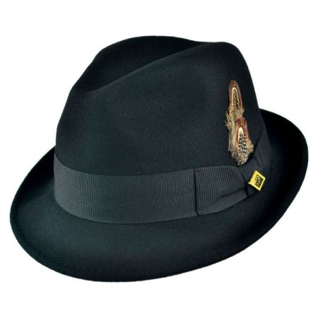 Pinch Front Wool Felt Fedora Hat alternate view 9