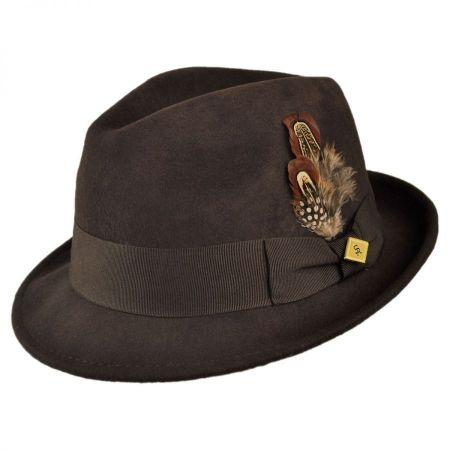 Pinch Front Wool Felt Fedora Hat alternate view 11