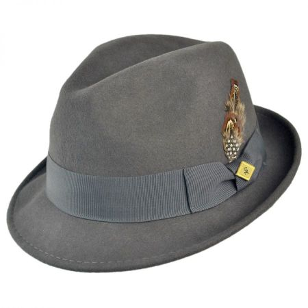 Stacy Adams Pinch Front Wool Felt Fedora Hat
