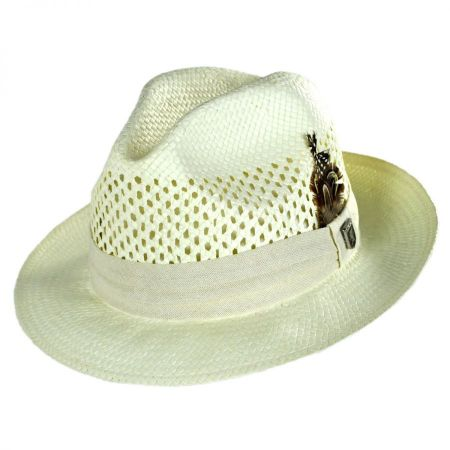 Stacy Adams Vent Toyo Straw Fedora Hat