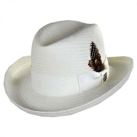 Stacy Adams Toyo Straw Homburg Hat