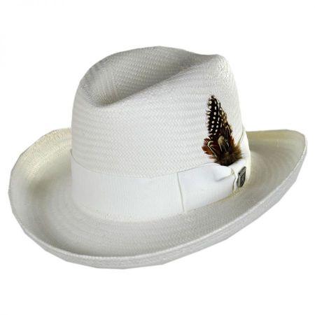 Stacy Adams Toyo Straw Homburg Hat
