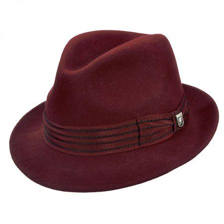 Stacy Adams Stitch Band Fedora Hat