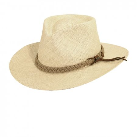 Braided Band Panama Straw Outback Hat
