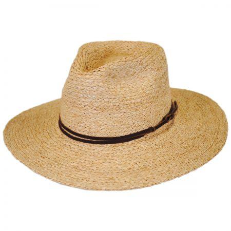Brixton Hats Simpson Raffia Straw Fedora Hat