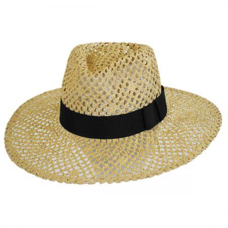 Kelly Open Weave Toyo Straw Fedora Hat