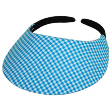 No Headache Gingham Midsize Visor