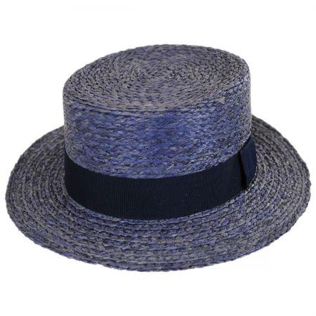 Autumn Raffia Straw Boater Hat alternate view 13