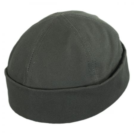 New York Hat Company Six Panel Canvas Skull Cap Beanie