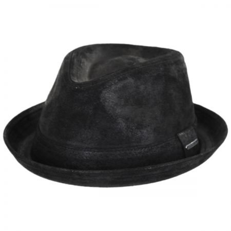 Stetson Leather Player Trilby Fedora Hat
