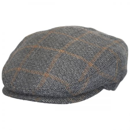Stetson Check Linen and Wool Ivy Cap