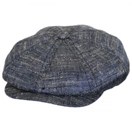 Stetson Linen and Silk Denim Newsboy Cap
