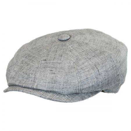 Stetson Solid Linen Newsboy Cap