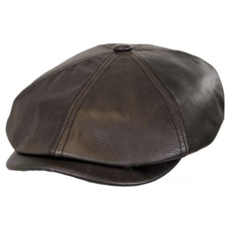 Stetson Leather Newsboy Cap