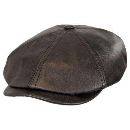 Stetson Leather Newsboy Cap