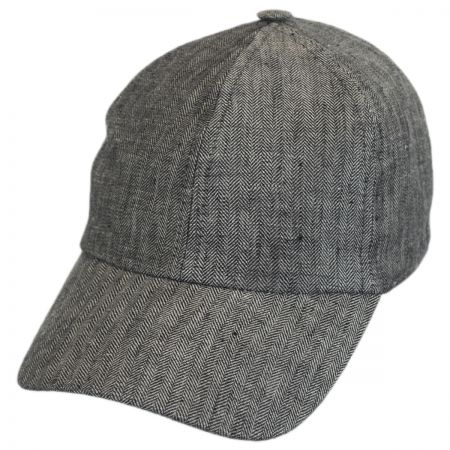 Stetson Herringbone Linen Fitted Baseball Cap