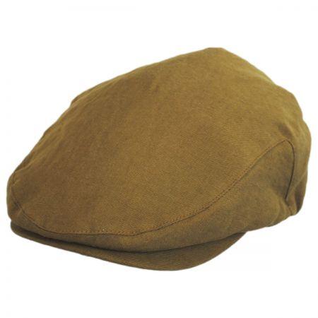 Brixton Hats Hooligan Linen and Cotton Solid Ivy Cap