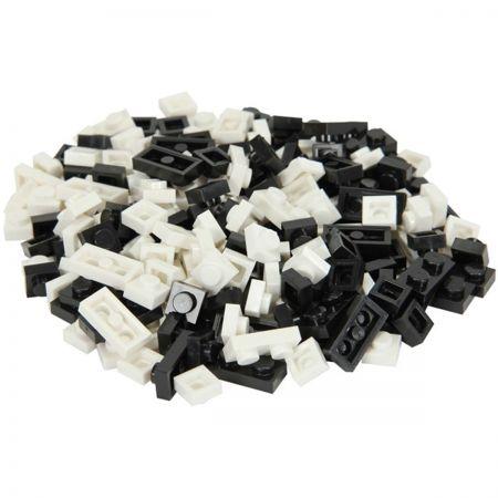 Elope Bricky Blocks Mixed 230-Block Pack - Blk/Wht