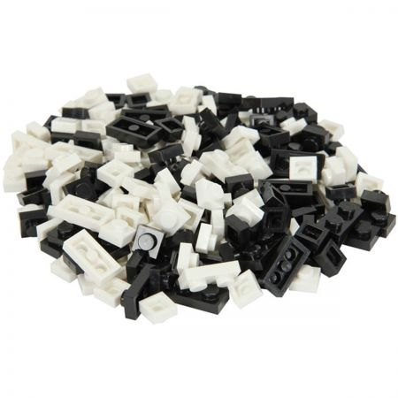 Elope Bricky Blocks Mixed 230 Pack - Black and White