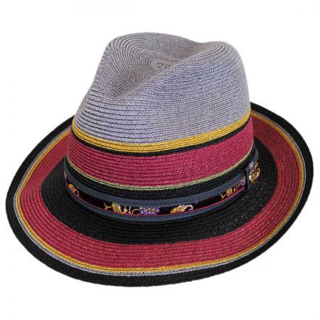 Biltmore Heritage Milan Hemp Straw Fedora Hat